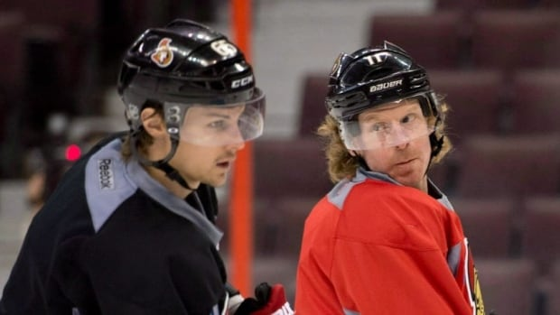 Ottawa Senators captain Daniel Alfredsson and defenceman Erik Karlsson are two key cogs in the wheel that is the Sens' powerplay. They're both important leaders, too, even though Karlsson is 18 years younger than Alfredsson.