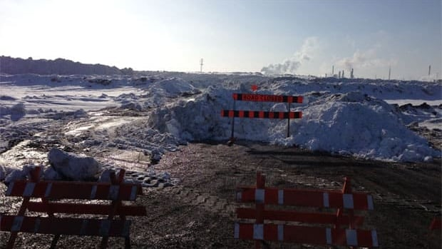 The snow dump in Regina closed on Wednesday because the ground was too soft on the site.