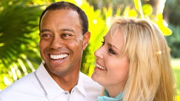 Lindsey Vonn posted this photo to Facebook with Tiger Woods on Monday.