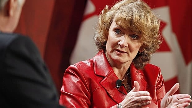 Liberal party leadership candidate Karen McCrimmon takes part in the Liberal Party of Canada Leadership debate in Winnipeg Feb. 2, 2013.