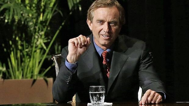 Robert F. Kennedy Jr. makes comments during the opening minutes of a interview with journalist Charlie Rose in Dallas, Texas on Jan. 11, 2013. He was in Hamilton on Friday to deliver a speech at Liuna Station.