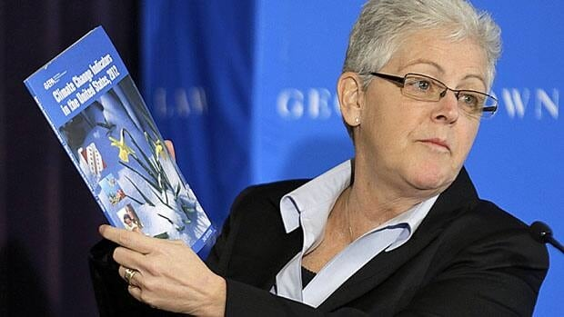 Gina McCarthy, who spoke at a climate workshop at Georgetown University on Thursday in Washington, is expected to be U.S. President Barack Obama's choice as head of the powerful Environmental Protection Agency. McCarthy currently heads the EPA's Office of Air and Radiation.