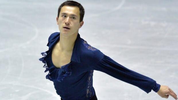 Patrick Chan skates his short program Thursday at Yoyogi National Gymnasium in Tokyo, Japan.