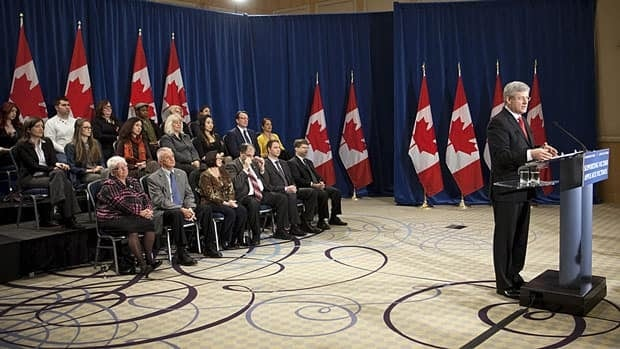 Prime Minister Stephen Harper announced the government's proposed reforms to the not criminally responsible system in Burnaby, B.C., in February. The bill is now at the House of Commons justice committee, and MPs are hearing a range of opinions.