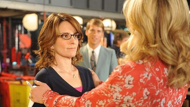 30 Rock creator and star Tina Fey appears as Liz Lemon (left) and Jane Krakowski as Jenna Maroney in a scene from the sitcom's series finale, airing Thursday.