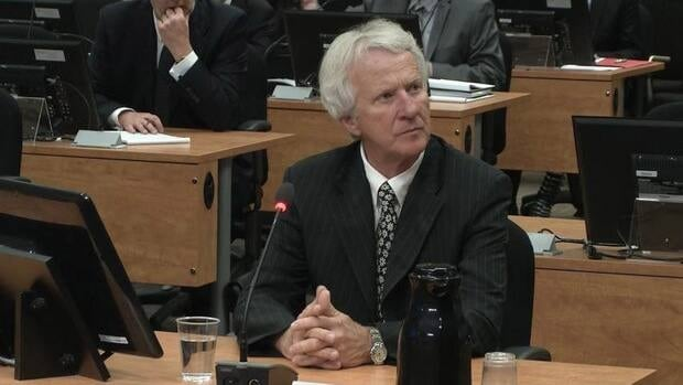 Gilles Théberge appearing before the Charbonneau Commission