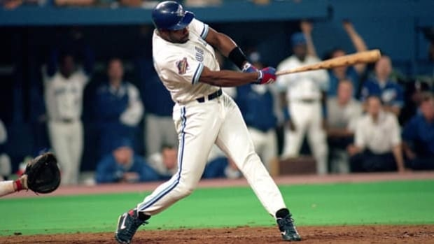 Joe Carter homers to clinch the World Series for Toronto over Philadelphia on Oct. 23, 1993.