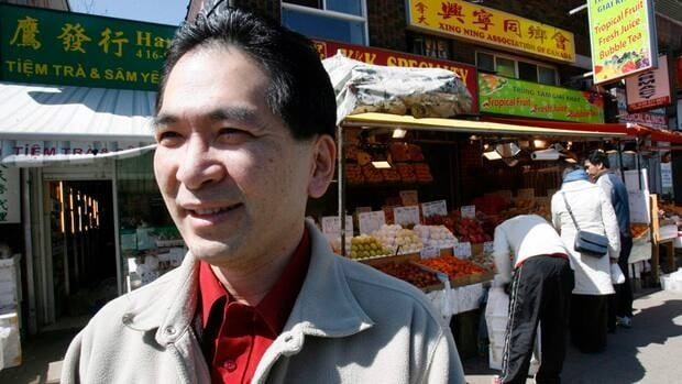 Victor Wong, executive director of the Chinese Canadian National Council, is pictured in Toronto's Chinatown on April 2, 2008. He says despite recent political woes over a leaked 'ethnic vote' strategy, B.C. Premier Christy Clark should go forward with a meaningful head tax apology.