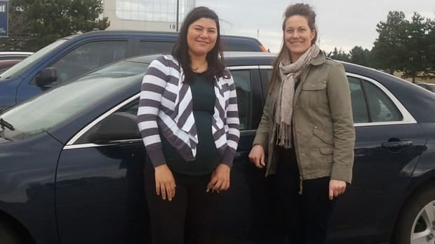 Danielle Spinello and Karina Thompson now carpool to work in Mississauga after being matched up through a program run by Metrolinx.
