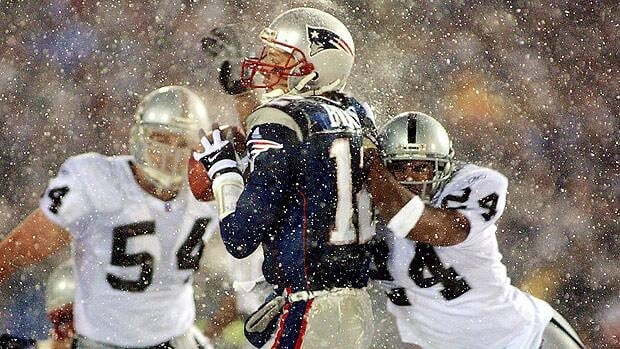 New England Patriots quarterback Tom Brady was hit by Charles Woodson of Oakland in 2002, the first many football fans had heard of the tuck rule.