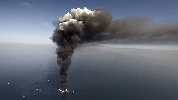 An oil spill at BP's Deepwater Horizon offshore oil rig in the Gulf of Mexico in April 2010 has cost $40 billion to clean up. Canada currently limits corporate liability for offshore oil spills to $30 million or $40 million, but the federal government is working on a bill to increase that cap.