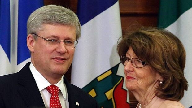 Prime Minister Stephen Harper will soon be bidding farewell to Senator Marjory LeBreton as a member of his cabinet. She is stepping down as leader in the Senate and the upcoming cabinet shuffle will see her bumped out of the backup prime minister role.