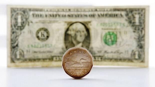 The Canadian dollar was down 0.43 of a cent to 94.65 cents US as the markets opened Tuesday. It hasn't been that low in almost two years.