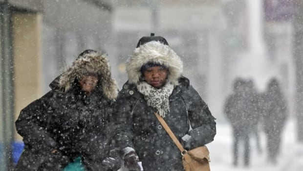 A mix of snow and rain hit Toronto Saturday, making for slippery driving conditions.