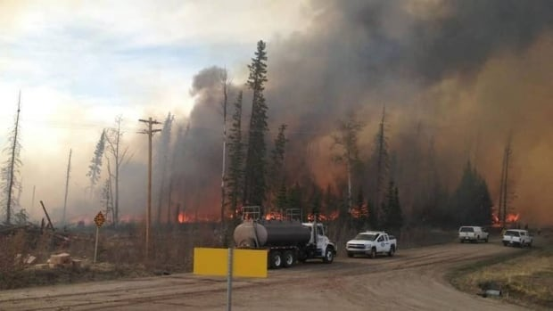Wildfires rage near Nordegg, Alta. Authorities have issued evacuation notices for Nordegg and Lodgepole.