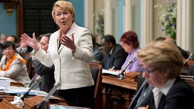 Quebec premier Pauline Marois speaks during a meeting of the national assembly to table back-to-work legislation, which ended a two-week long construction strike.