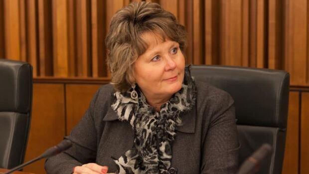 Waterloo Mayor Brenda Halloran in regional council chambers.