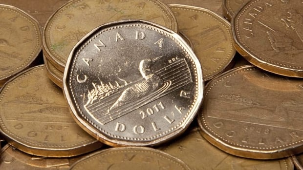 The loonie fell more than three cents US over February.