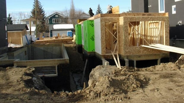 The number of new homes under construction increased in March from February's level, but is still lower than it was a year ago.