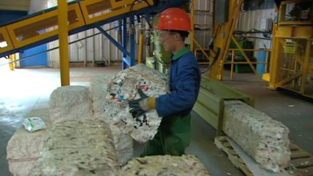 The Westmorland-Albert Solid Waste Corporation shipped out a load of Styrofoam for the first time on Wednesday, to be turned into crown molding.