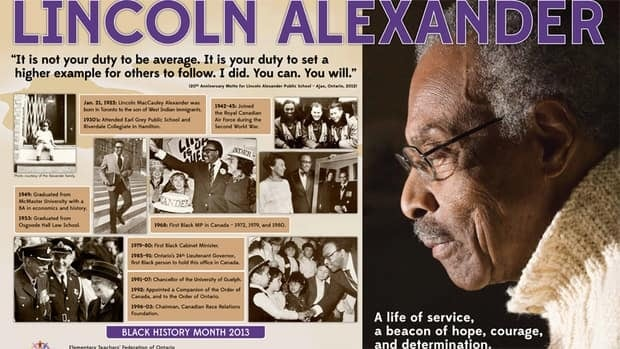 The Elementary Teachers Federation of Ontario has produced a poster honouring the late Lincoln Alexander, Ontario's first black lieutenant-governor.