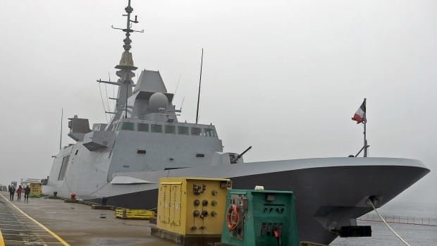 The French Navy FREMM Class frigate Aquitaine rests at berth in Halifax on Saturday, April 20, 2013. The Paris-based naval contractor DCNS wants Canada to consider the frigates for the Canadian Surface Combatant program.