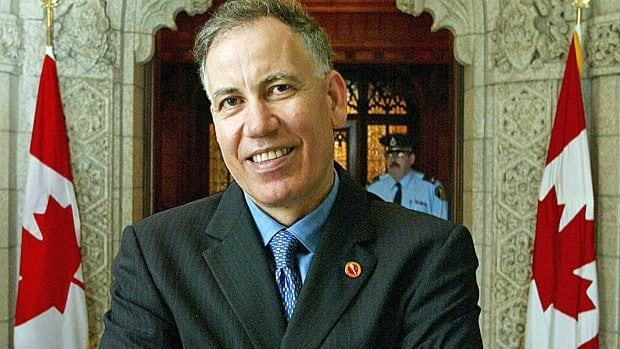 Senator Mac Harb stands outside the Senate chambers after being sworn-in as senator on Sept. 23, 2002. Harb, who is the first Lebanese-Canadian senator, called it an honour to serve his adopted country.