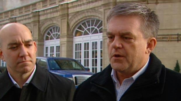 Premier David Alward and Energy Minister Craig Leonard are in Alberta to rally support behind the idea of building a west-to-east oil pipeline.