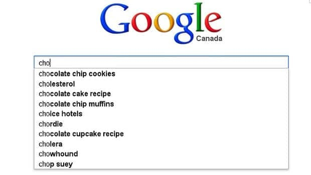 Google's autocomplete function will suggest possible search words once you start typing into the search window. In the above example, typing 'cho' calls up numerous suggestions from 'chocolate chip cookies' to 'cholera' - based in part on terms that other users have searched for. A company in Germany has alleged that the suggestions made when its name was typed into the search engine were defamatory and a court ruled in such cases, the entries must be removed.