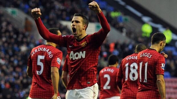 Robin Van Persie put on a show for Manchester United fans on Tuesday, scoring twice in a 4-0 win.