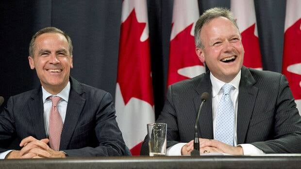 Stephen Poloz (right) was appointed Governor of the Bank of Canada on May 2. He takes over from Mark Carney (left) on June 3 for a seven-year term.