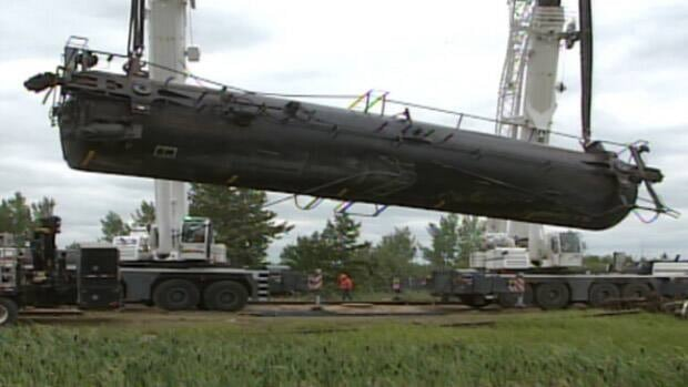 On July 27, crews cleaned up the site of a train derailment near Lloydminster, Sask.