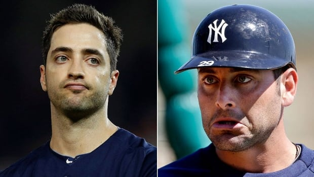 Members of Yankees third baseman Alex Rodriguez's inner circle apparently leaked documents implicating Brewers outfielder Ryan Braun, left, and Yankees teammate Francisco Cervelli, right, in MLB's latest performance-enhancing drugs scandal, according to CBS' 60 Minutes.