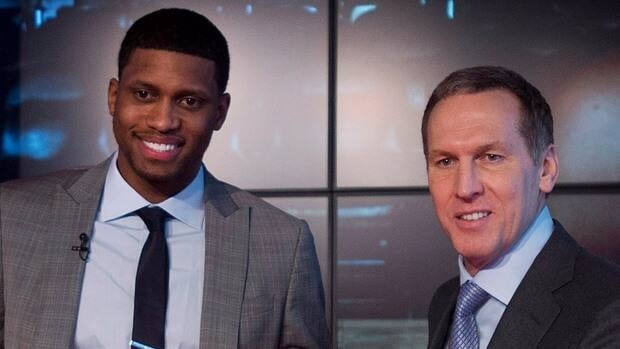 Scorer Rudy Gay, left, has definitely made an impact since Toronto Raptors GM Bryan Colangelo, right, pulled the trigger on the blockbuster deal on Jan. 30.