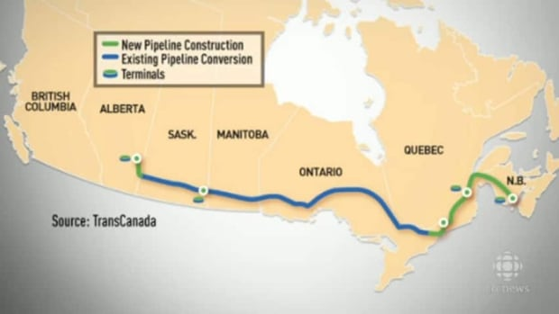 The proposed west-to-east-running pipeline would go directly through the western part of Ottawa.