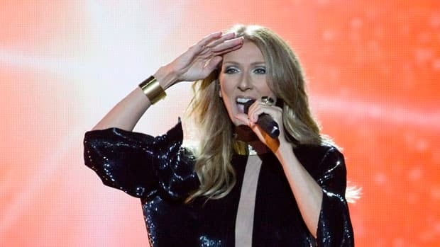 Céline Dion performs on the Plains of Abraham in Quebec City on July 27, 2013.