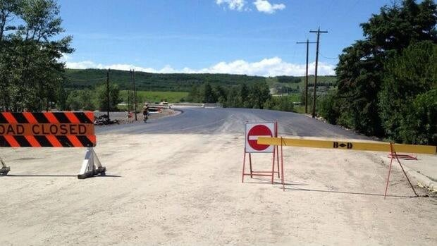 The damaged bridge between Black Diamond and Turner Valley is set to open on Friday.