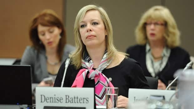 Denise Batters appears as a witness at a commons health committee on mental illness in Ottawa on Thursday, March 8, 2012.