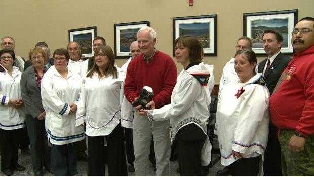 Governor General David Johnston addressed the Nunatsiavut Assembly in Hopedale on Wednesday.