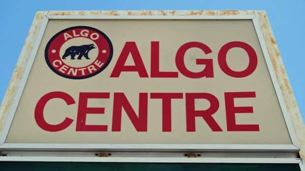 The Algo Centre Mall sign in Elliot Lake, Ont.