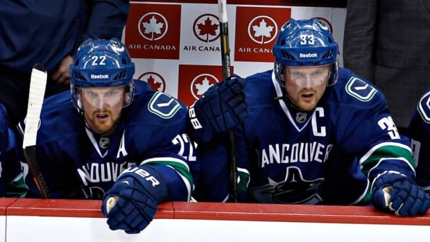 Vancouver Canucks forward Henrik Sedin, right, and his brother Daniel will be joining Team Sweden at the world hockey championships.