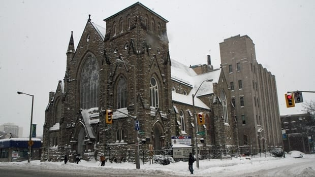 A Toronto firm making its first foray into the Hamilton market has purchased James Street Baptist Church. Cory Ruf/CBC
