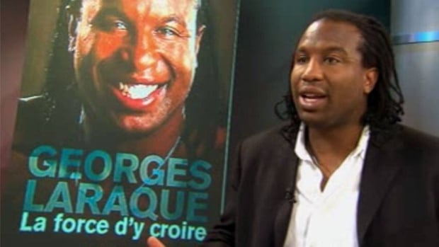 Former Montreal Canadien Georges Laraque confirmed police searched his home today, looking for a financial record related to a lawsuit.