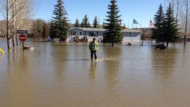 The Craven World campground at Craven, Sask., is under water.