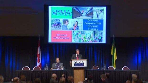 Premier Brad Wall addressed delegates Monday in Saskatoon at the annual SUMA convention.