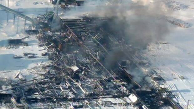 The explosion at the Burns Lake sawmill killed two men and destroyed the mill.