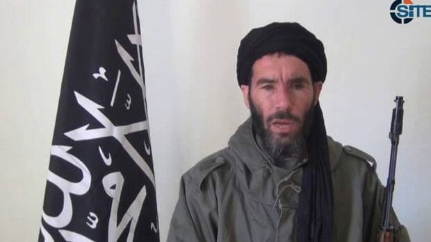 This image from video provided by the SITE Intel Group made available Thursday Jan. 17, 2013, purports to show militant leader Mokhtar Belmokhtar.  (AP Photo/SITE Intel Group)