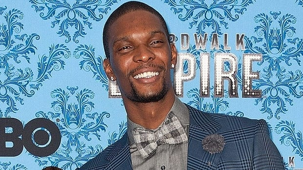 Chris Bosh, seen at a premiere, was celebrating his 29th birthday when the robbery took place.