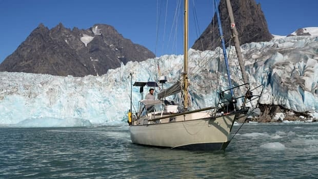 The sailboat, named the Belzebub II, is the first boat other than an icebreaker to travel a challenging route through the Northwest Passage.