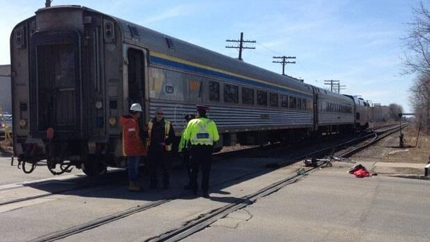 A 76-year-old Waterloo man is in hospital following a crash with a Via rail train.